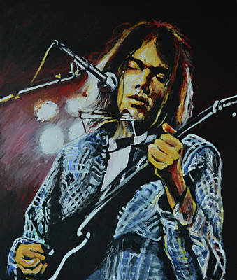 Neil Young Wall Art - Painting - Neil Young by Melissa O'Brien