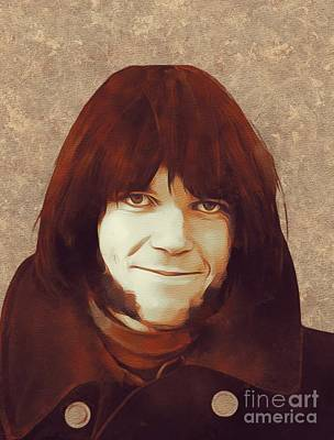 Neil Young Painting - Neil Young, Music Legend by Mary Bassett