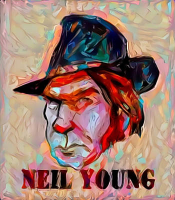 Painting - Neil Young by Paul Van Scott