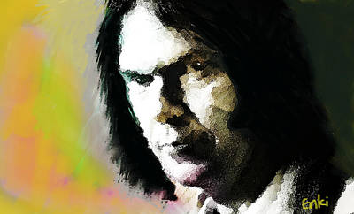 Neil Young Painting - Neil Young Portrait  by Enki Art