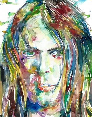Neil Young Wall Art - Painting - Neil Young Portrait by Fabrizio Cassetta