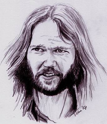 Drawing - Neil Young by Toon De Zwart