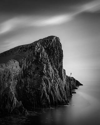 Neist Point Lighthouse Art Print by Dave Bowman