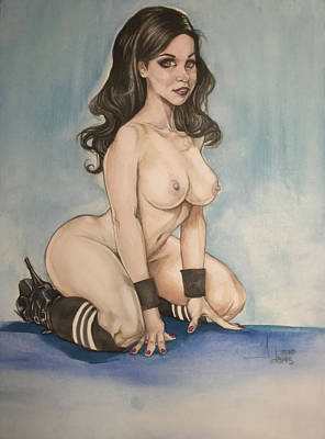 Painting - Nekane Pinup by Jimmy Adams