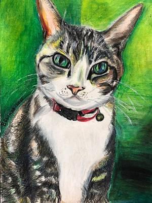 Painting - Neko II - Here's Looking At You by Belinda Low
