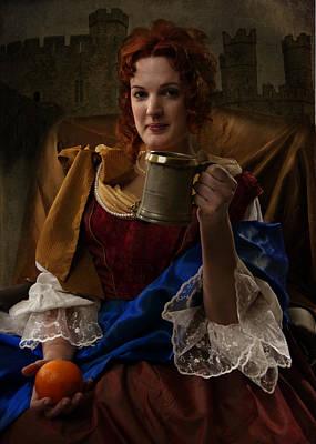 Nell Enjoying A Pint Art Print by Doug Matthews