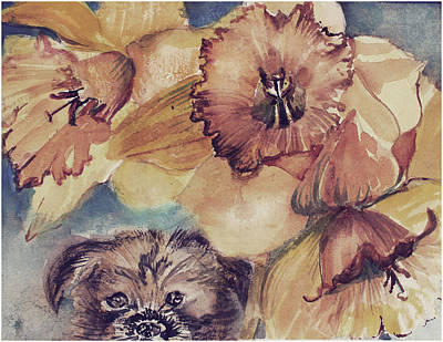 Art Print featuring the painting Nellie Mae by Mindy Newman