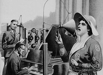 Broadcast Painting - Nellie Melba Performing For Radio by Pat Nicolle