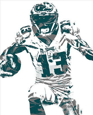 Mixed Media - Nelson Agholor Philadelphia Eagles Pixel Art 3 by Joe Hamilton