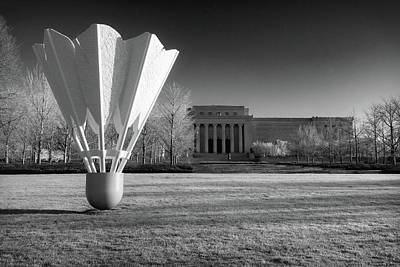 Blue Hues - Nelson Atkins Art Museum in Infrared - Kansas City by Gregory Ballos