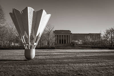 Photograph - Nelson Atkins Art Museum In Sepia - Kansas City by Gregory Ballos