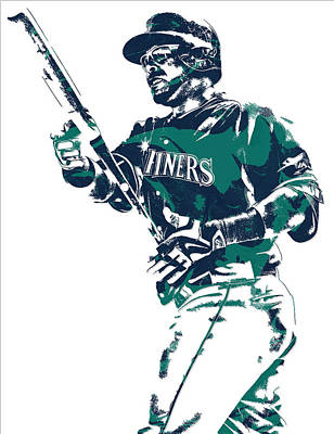 Mixed Media - Nelson Cruz Seattle Mariners Pixel Art 5 by Joe Hamilton
