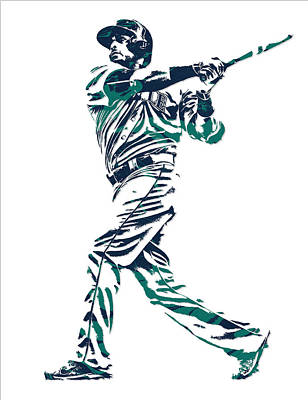 Nelson Cruz Seattle Mariners Pixel Art 6 Art Print