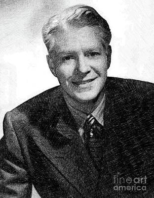 Musicians Drawings - Nelson Eddy, Vintage Actor by JS by Esoterica Art Agency
