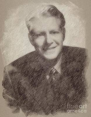 Singer Drawing - Nelson Eddy, Vintage Actor by Frank Falcon