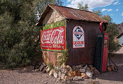 Photograph - Nelson Ghost Town Gas Station by Kristia Adams