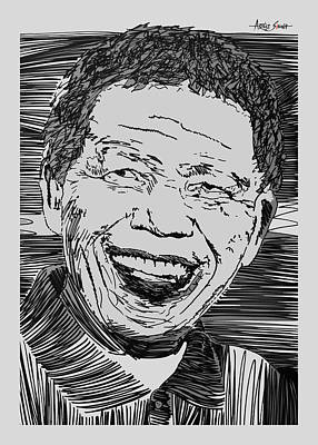 Imprisonment Painting - Nelson Mandela 2 by Artist Singh