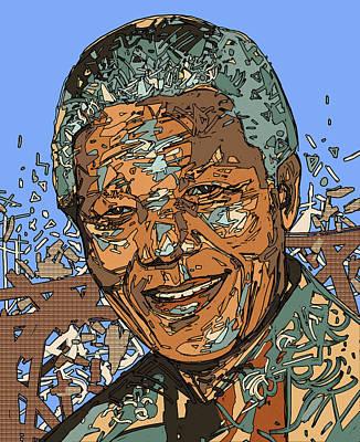 Digital Art - Nelson Mandela 2 by Bekim Art
