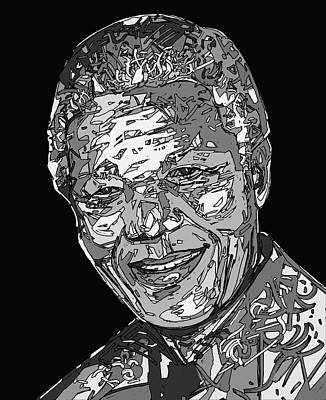 Digital Art - Nelson Mandela by Bekim Art