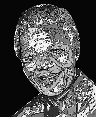 Digital Art - Nelson Mandela by Bekim Art