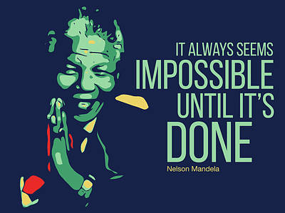 Nelson Mandela Digital Art - Nelson Mandela by Greatom London