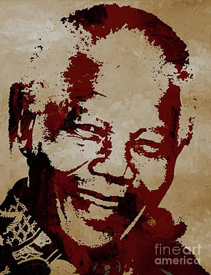Painting - Nelson Mandela by Gull G