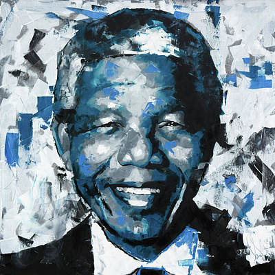 Nobel Peace Prize Painting - Nelson Mandela II by Richard Day