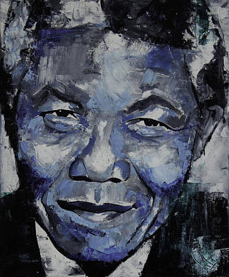 Nobel Peace Prize Painting - Nelson Mandela by Richard Day
