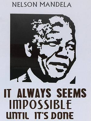 Nelson Mandela Art Print by Ryszard Ludynia