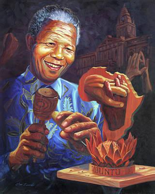 Nelson Mandela Painting - Nelson Mandela by Steve Simon