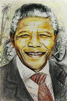 Honour Painting - Nelson Mandela by Wale Adeoye
