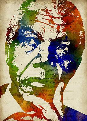 Nelson Mandela Watercolor Art Print by Mihaela Pater