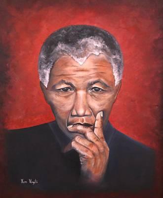 Liberation Painting - Nelson Mandela by Xan Virgili