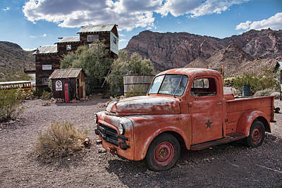 Photograph - Nelson Old Dodge In The Desert by Kristia Adams