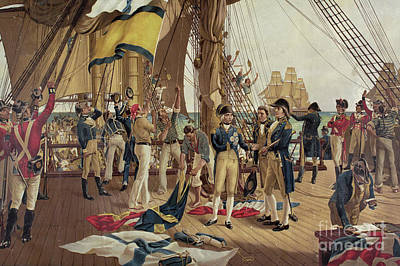 Victorious Painting - Nelson's Last Signal At Trafalgar  by Thomas Davidson