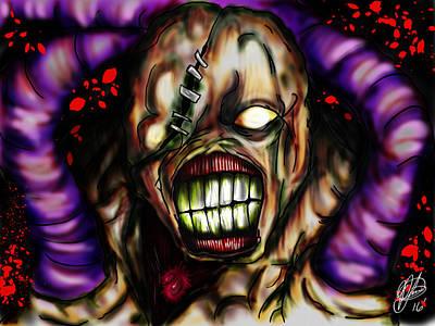 Resident Evil Digital Art - Nemesis  by Pedro Lazo