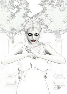 Goddess Mythology Drawing - Nemesis The Envy by Quim Abella