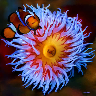Clown Fish Digital Art - Nemo Comes Home  by Thanh Thuy Nguyen