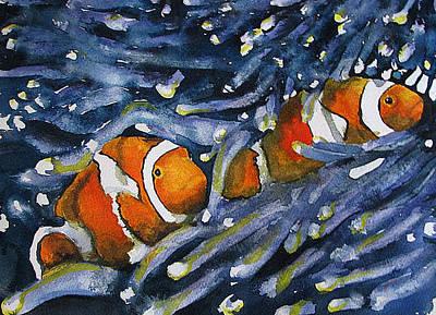 Clown Fish Drawing - Nemo Found by Tina Pitsiavas