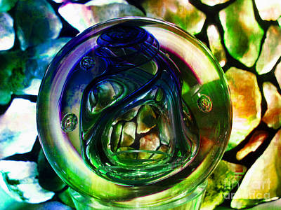 Glass Art - Nemunas Glass Paperweight by Jolanta Anna Karolska