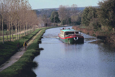 Photograph - Nenuphar Barge At Burgundy In France 2 by Carl Purcell