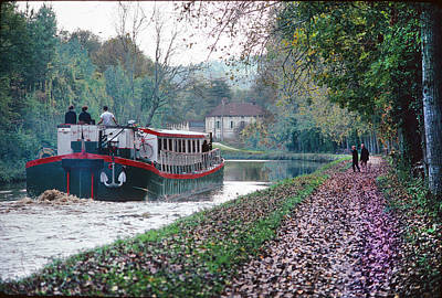 Photograph - Nenuphar Barge On Burgundy In France by Carl Purcell