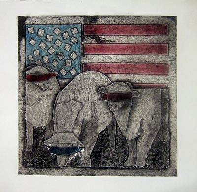 Political Mixed Media - Neo American by Alison Schmidt Carson