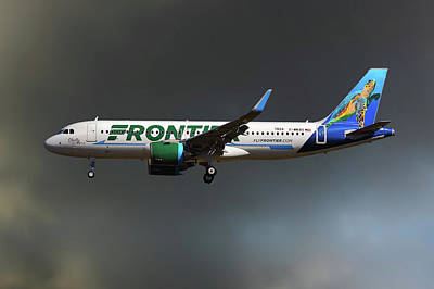 Neo Frontier Airbus A320 Art Print