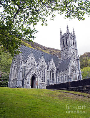 Photograph - neo-gothic church at Kylemore Abby by Cindy Murphy - NightVisions