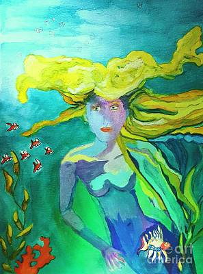 Neo Mermaid 1 Art Print by ARTography by Pamela Smale Williams
