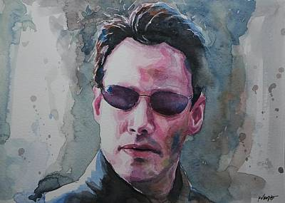 The Matrix Painting - Neo - The Matrix by Baresh Kebar - Kibar