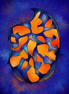 Neoh Peblous V2 - Digital Abstract Art Print