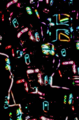 Psychedelic Photograph - Neon Abstract by Tom Gowanlock