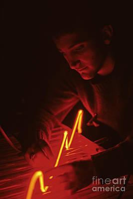 Photograph - Neon Artist  by Jim Corwin
